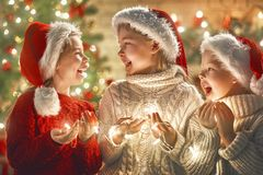 Children at Christmas Royalty Free Stock Image