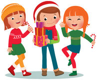 Children Christmas Party Stock Images