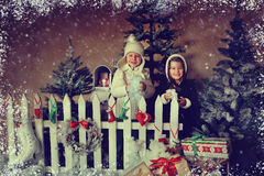 Children and Christmas story Stock Image