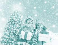 Children Christmas Winter Holidays Celebration Concept Royalty Free Stock Photos