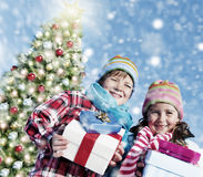 Children Christmas Winter Holidays Celebration Concept Royalty Free Stock Photo