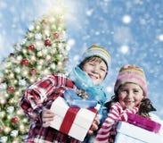 Children Christmas Winter Holidays Celebration Concept Royalty Free Stock Photo