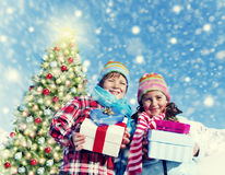 Children Christmas Winter Holidays Celebration Concept Stock Images