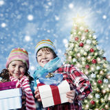 Children Christmas Winter Holidays Celebration Concept Stock Photography