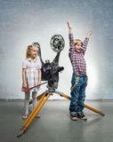 Children in a cinema Stock Image