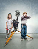 Children in a cinema Stock Images