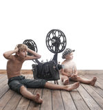 Children and cinema Royalty Free Stock Image