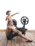 Children and cinema Royalty Free Stock Photo
