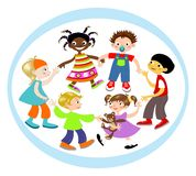 Children Circle Royalty Free Stock Photography