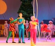Children circus jugglers Stock Images