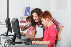 Children in class Royalty Free Stock Photo