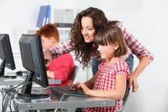 Children in class Stock Photos