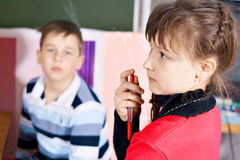 Children in class Stock Photography
