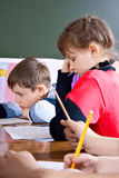 Children in class Stock Photo
