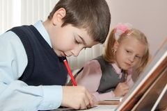 Children in the classroom Stock Image