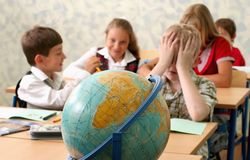 Сhildren at classroom Royalty Free Stock Photo