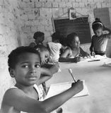 Children in classroom in Brazil Stock Images