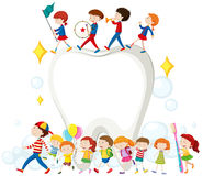 Children and clean teeth. Illustration Stock Photography