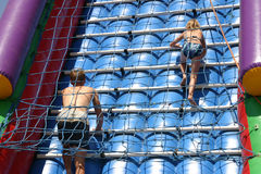 Children climbing Stock Image
