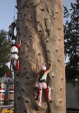 Children climbing Royalty Free Stock Photography