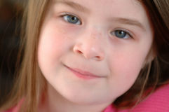Children-Close Up Face. Close up head shot of an adorable girl Stock Images