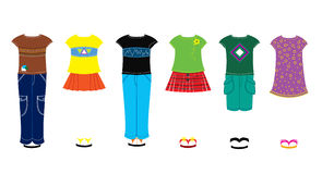 Children clothes. Beautiful fashion clothes for somebody Stock Photography
