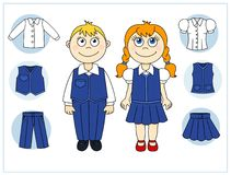 Children with clothes elements Stock Images