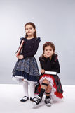 Children clothes fashion dress style girls Stock Photography