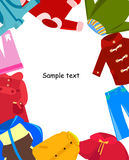 Children clothes frame Royalty Free Stock Photography
