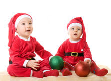 Children in the clothes of Santa Claus Royalty Free Stock Photos
