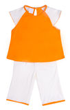 Children clothes on white Royalty Free Stock Image