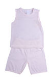 Children clothes on white Royalty Free Stock Images
