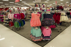 Children clothing fashion store department target Royalty Free Stock Photo