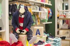 Children clothing store Stock Photos