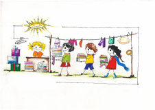 Children cloths charity royalty free illustration