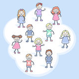Children in a cloud Stock Images