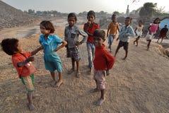 Children at The Coalmine Area Stock Images