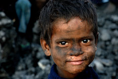 Children at The Coalmine Area Stock Photography