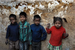 Children at The Coalmine Area Royalty Free Stock Images