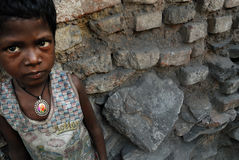 Children of the coalmine area in India. Stock Photography
