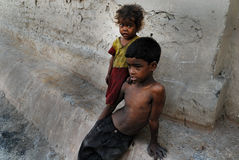Children of the coalmine area in India Royalty Free Stock Photography