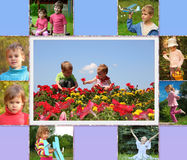 Children collage Royalty Free Stock Image