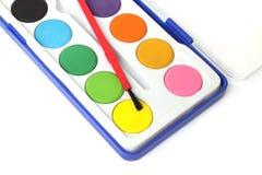 Children color palette box Royalty Free Stock Photos