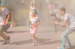 Children at The Color Run Stock Images