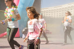Children at The Color Run Stock Photography