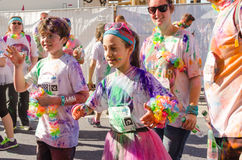 Children at The Color Run Royalty Free Stock Photography