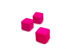 Children colored cubes Stock Image