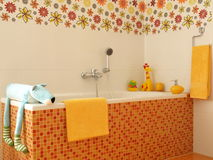 Children colorful bathroom. Stock Photography