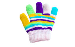 Children colorful glove Royalty Free Stock Photography