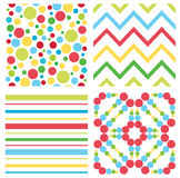 Children colorful pattern Stock Photos